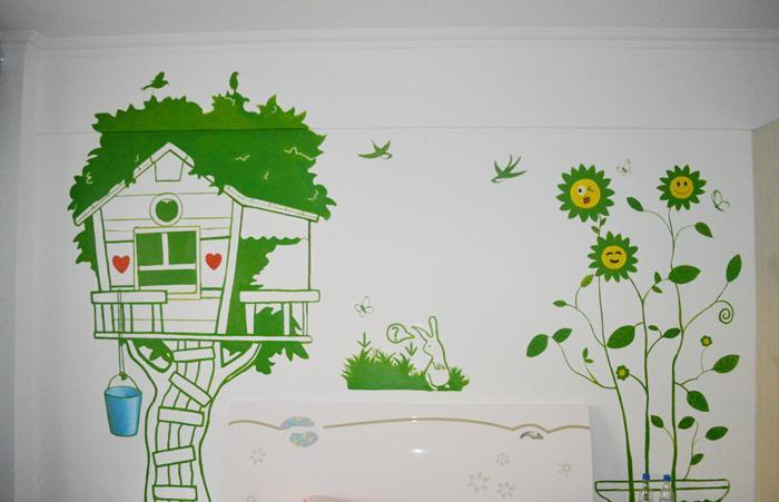 新余手绘背景,新余室内墙绘,新余美丽乡村文化墙彩绘