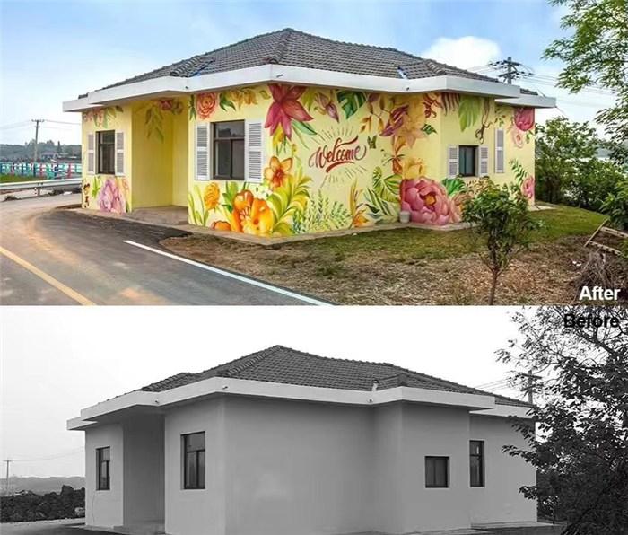 新余美丽乡村墙绘,新余幼儿园墙壁绘画,新余幼儿园墙面绘画