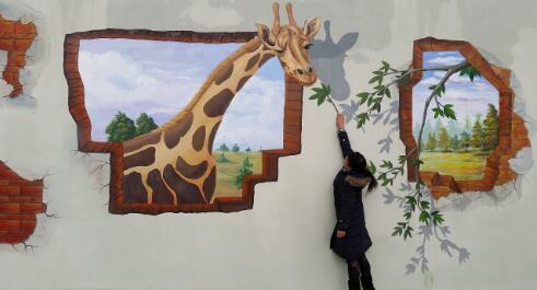 新余幼儿园墙画手绘,新余壁画手绘,新余彩绘3d立体画,新余墙体画手绘