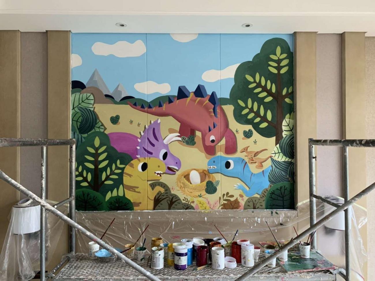 新余幼儿园彩绘墙面,新余幼儿园涂鸦墙,新余墙体画画,新余绘画公司